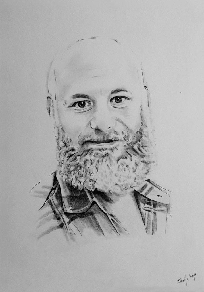 Auftragsmalerei Mann mit Bart