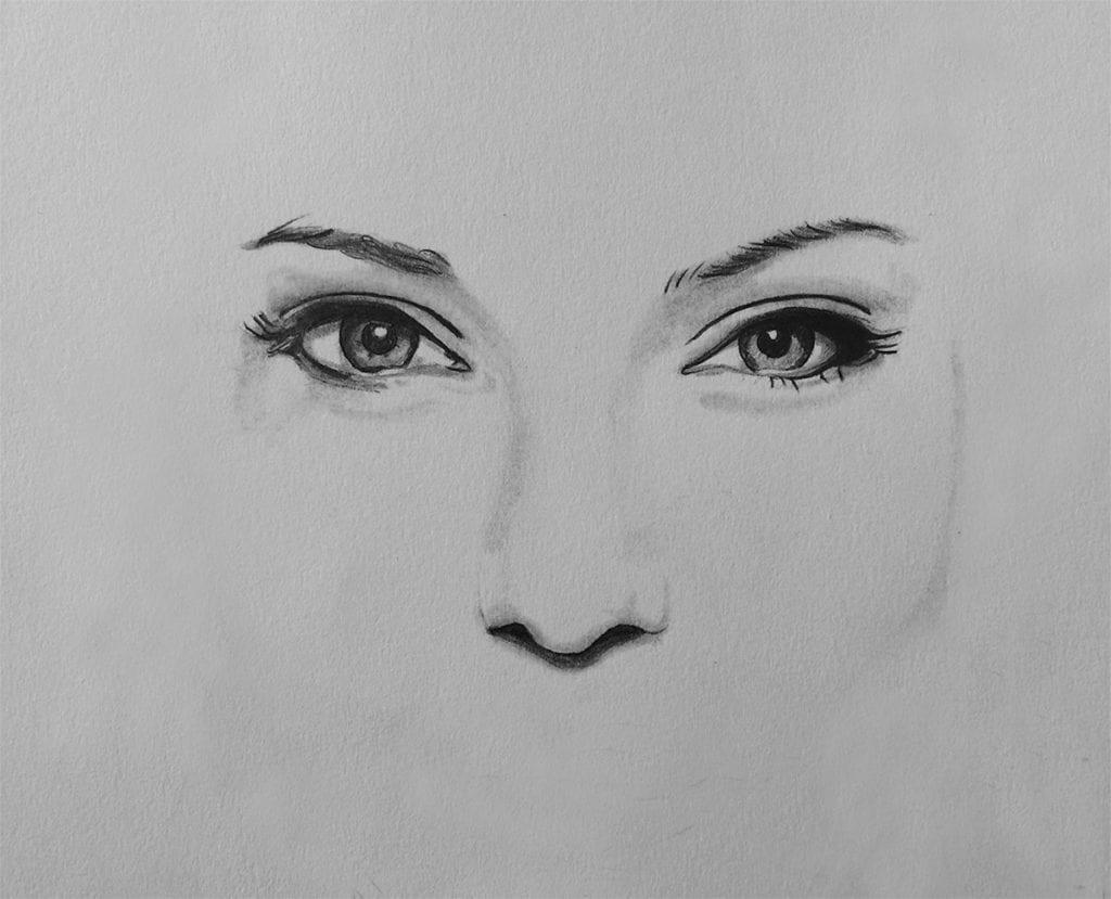 Augenpartie zeichnen lernen
