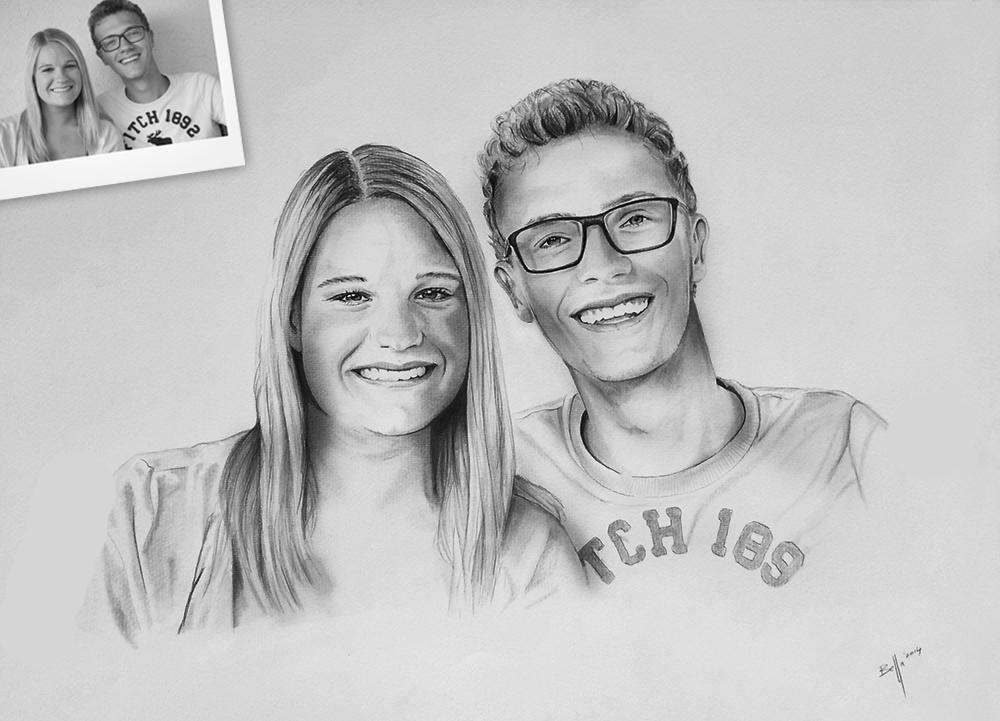 Portrait vom Foto als Paarportrait