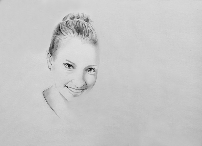 Skizze einer Portraitzeichnung