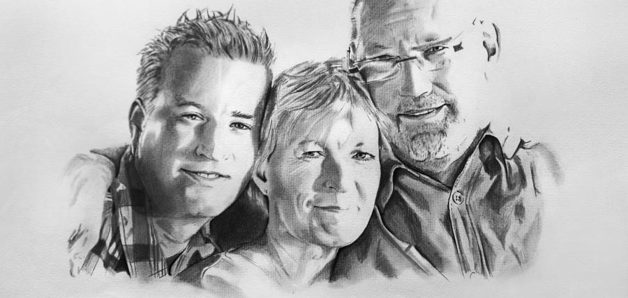 Portraitzeichnung nach Ihrer individuellen Fotovorlage - foto-realistisch!