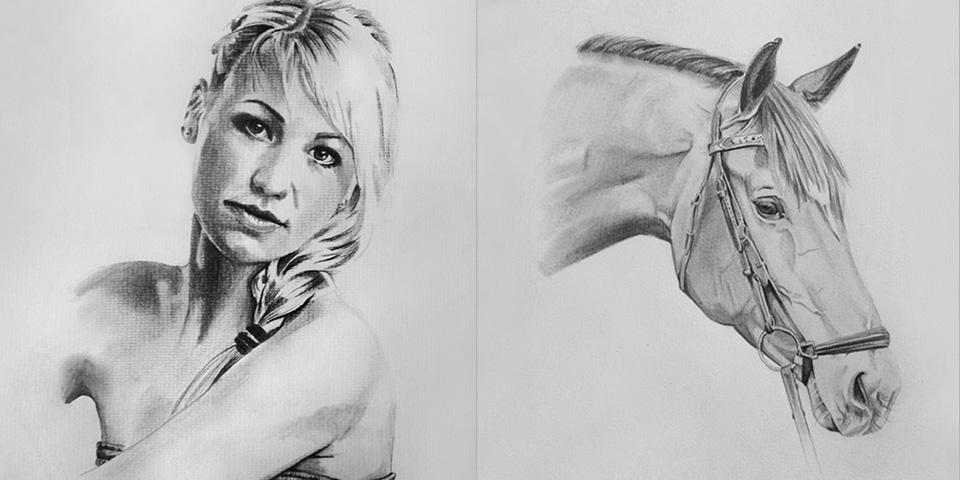 Portrait zeichnen lassen von Bella