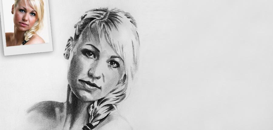 Wir zeichnen Portraits nach Ihrer Fotovorlage