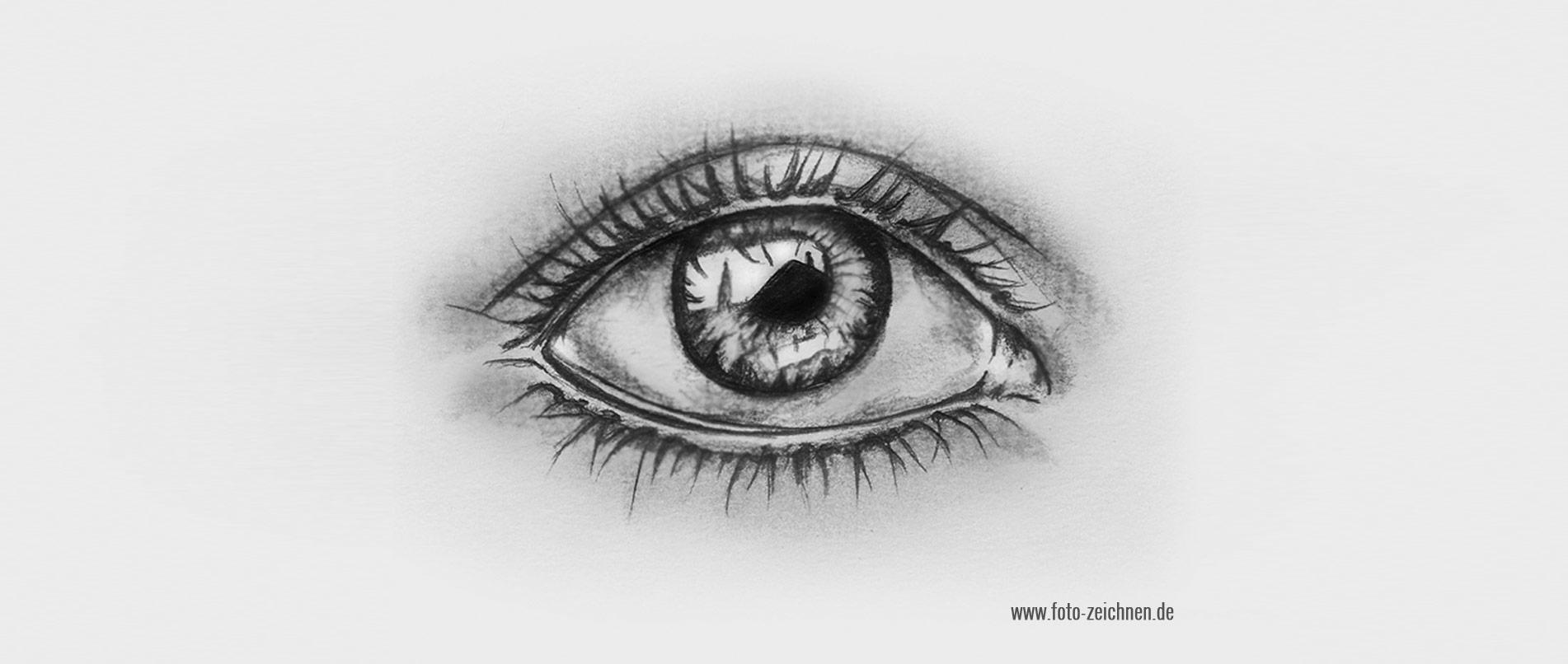 Augen zeichnen lernen - Anleitung Schritt für Schritt