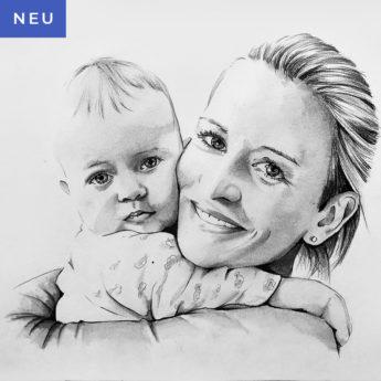 Portrait vom Foto die neueste Zeichnung