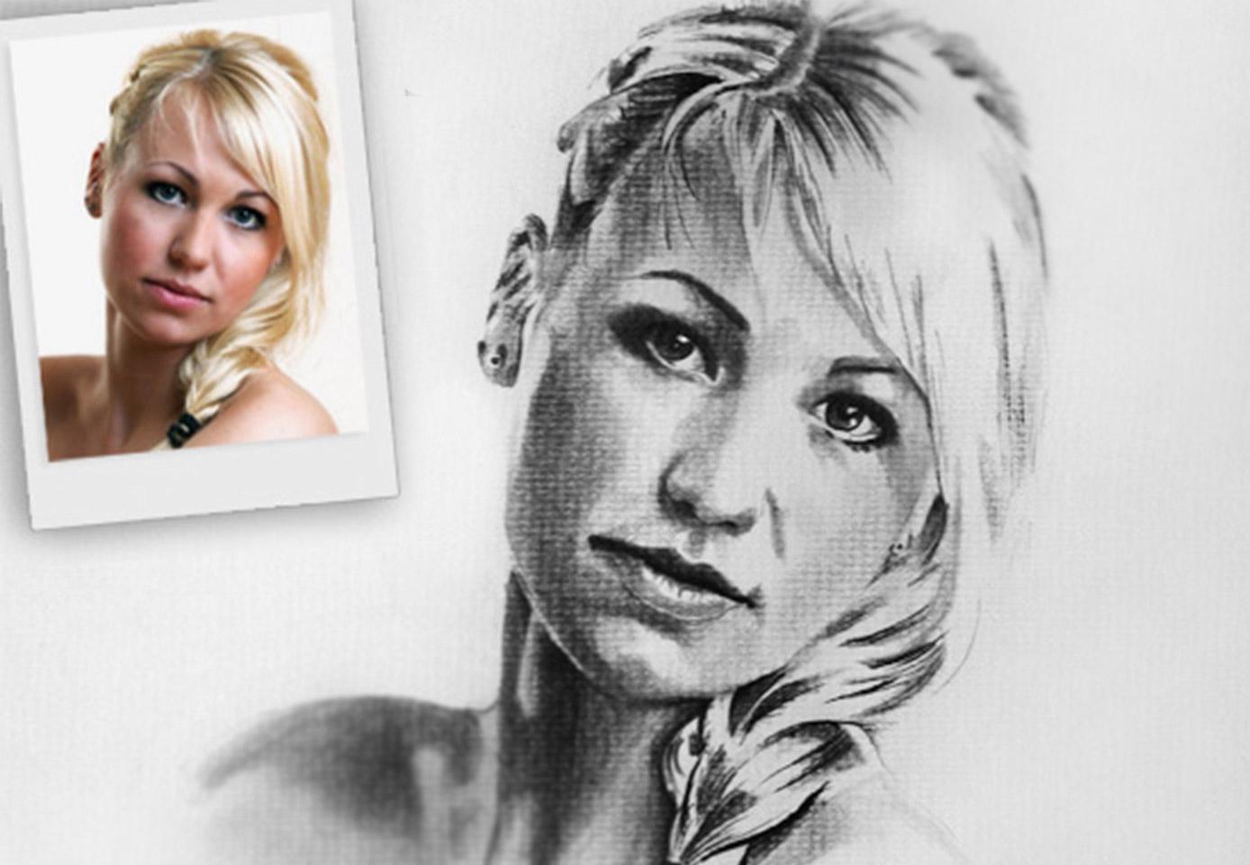 Fotos malen lassen von Bella Portraitzeichnung