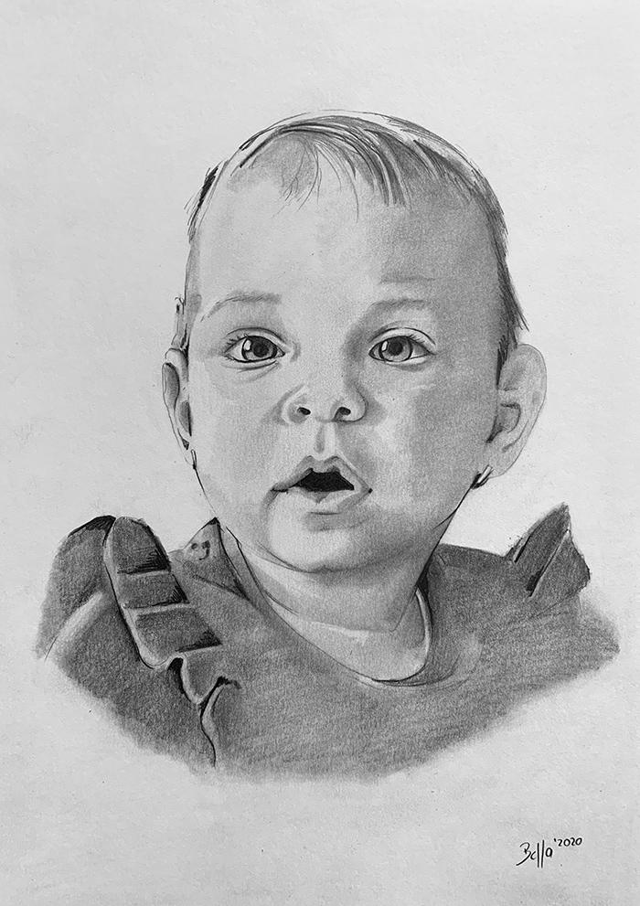 Geschenkidee Babyzeichnung
